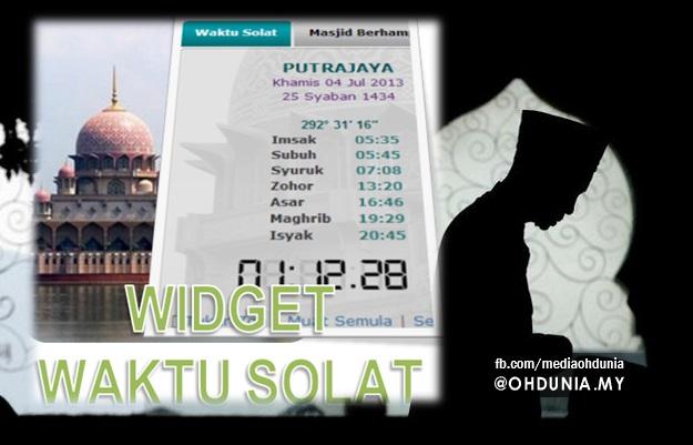 Widget Sistem Waktu Solat Malaysia Untuk Blog