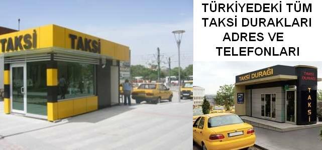 Taksi duraklari taxi durak taksi durakları telefonları tel Taksi