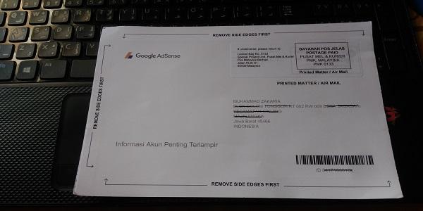 Bukti Penerimaan PIN Google Adsense
