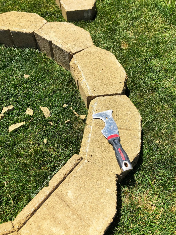 Chiseling lip off of wall blocks