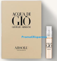 Logo Campione omaggio Acqua di Giò Absolu: richiedilo gratis