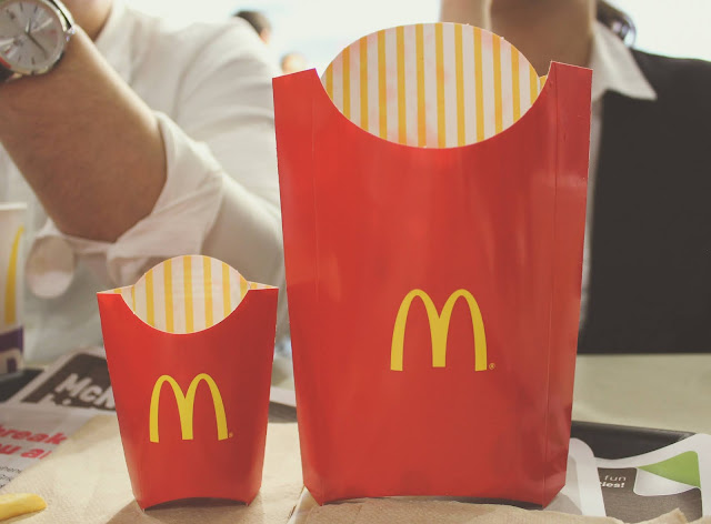 MMcDonalds Supersize Fry Big vs. Small  Package