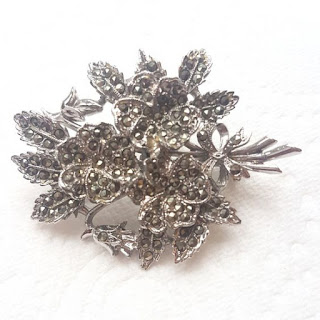 Floral marcasite brooch by Exquisite