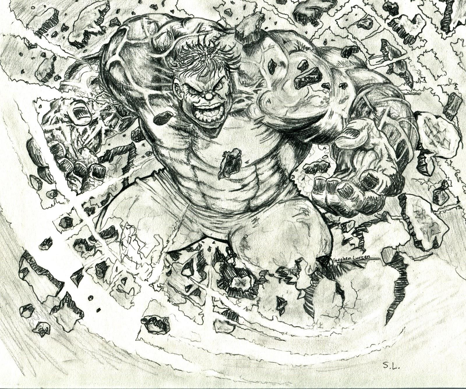 Stephen Lursen Art: Hulk Painting
