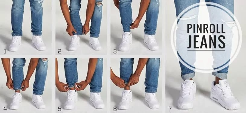 Steps to cuff roll pants.