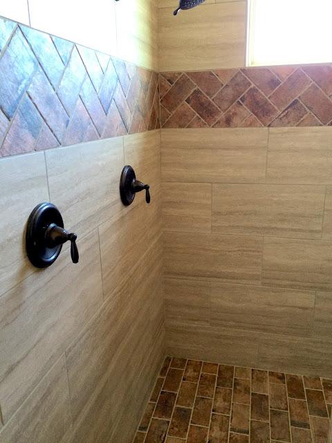 Brick Tile in Shower