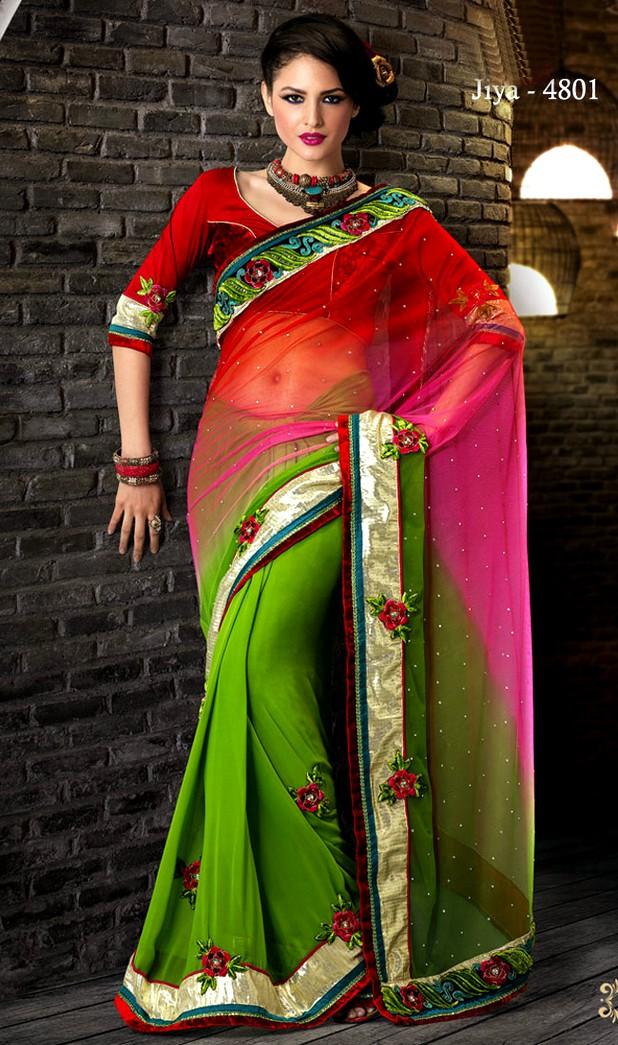Jiyare Sarees Collection Spring Saree Collection 2013