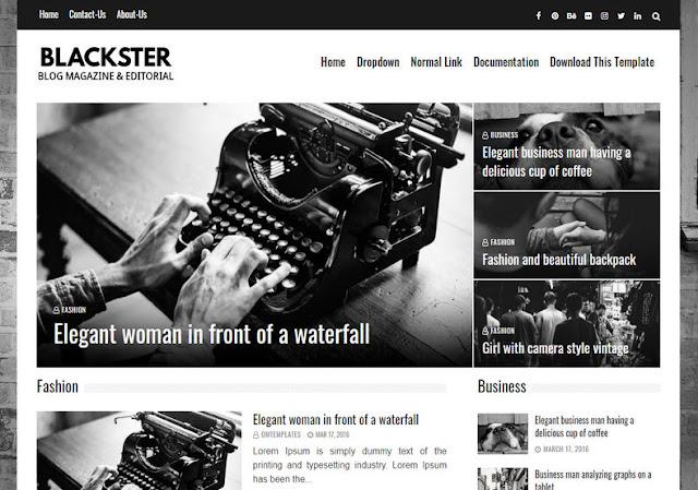 Blackster Blogger Template