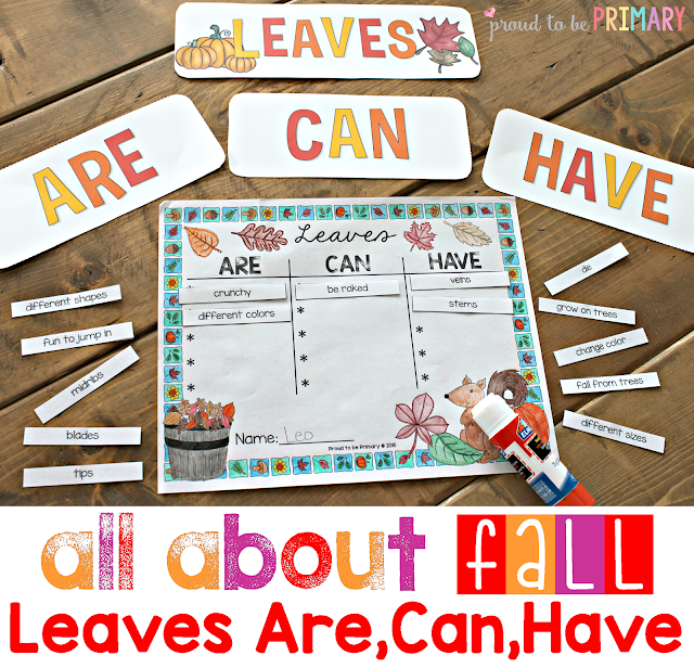 fall lesson plans - leaves