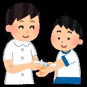 採血のイラスト(学校の健康診断)