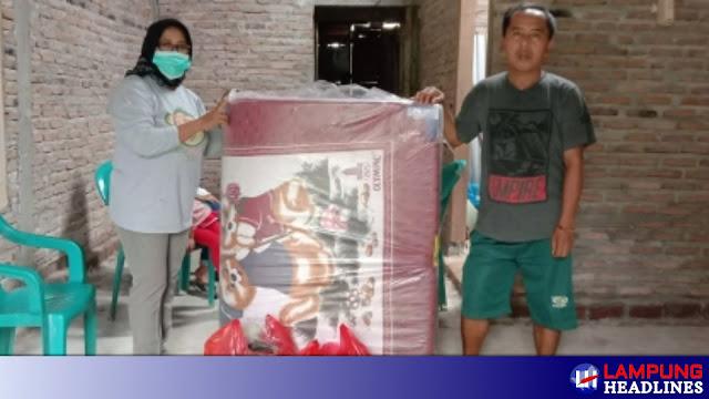 Zet Ependi Dulu Tinggal Di Dapur, Kini Punya Rumah Program BSPS,LKS Alamanda Bantu Kasur Dan Sembako