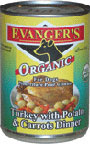 Picture of Evanger's 100% Organic Turkey with Potato And Carrots Canned Dog Food