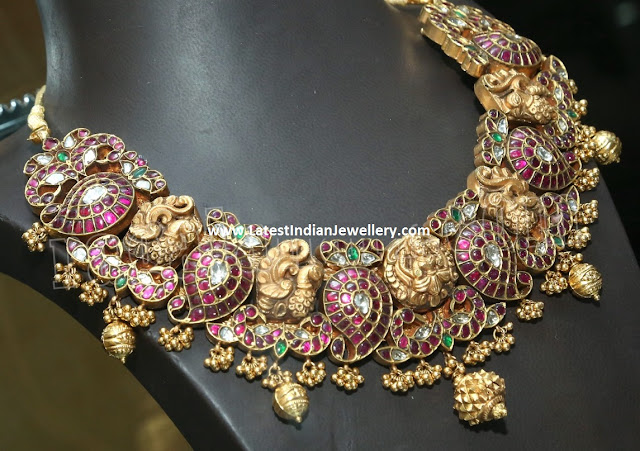 Lakshmi Necklace Ruby Mangoes
