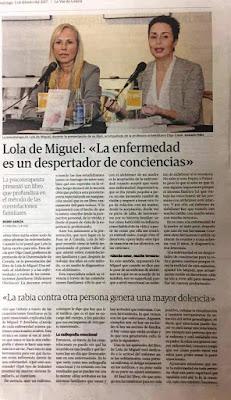 Presentación del libro de Lola de Miguel por Olga Casal