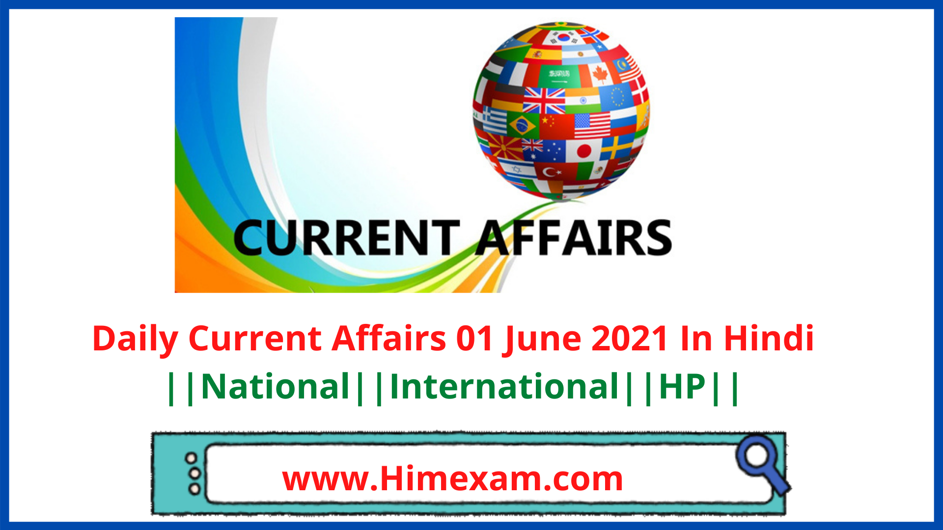 Daily Current Affairs 01 June 2021 In Hindi
