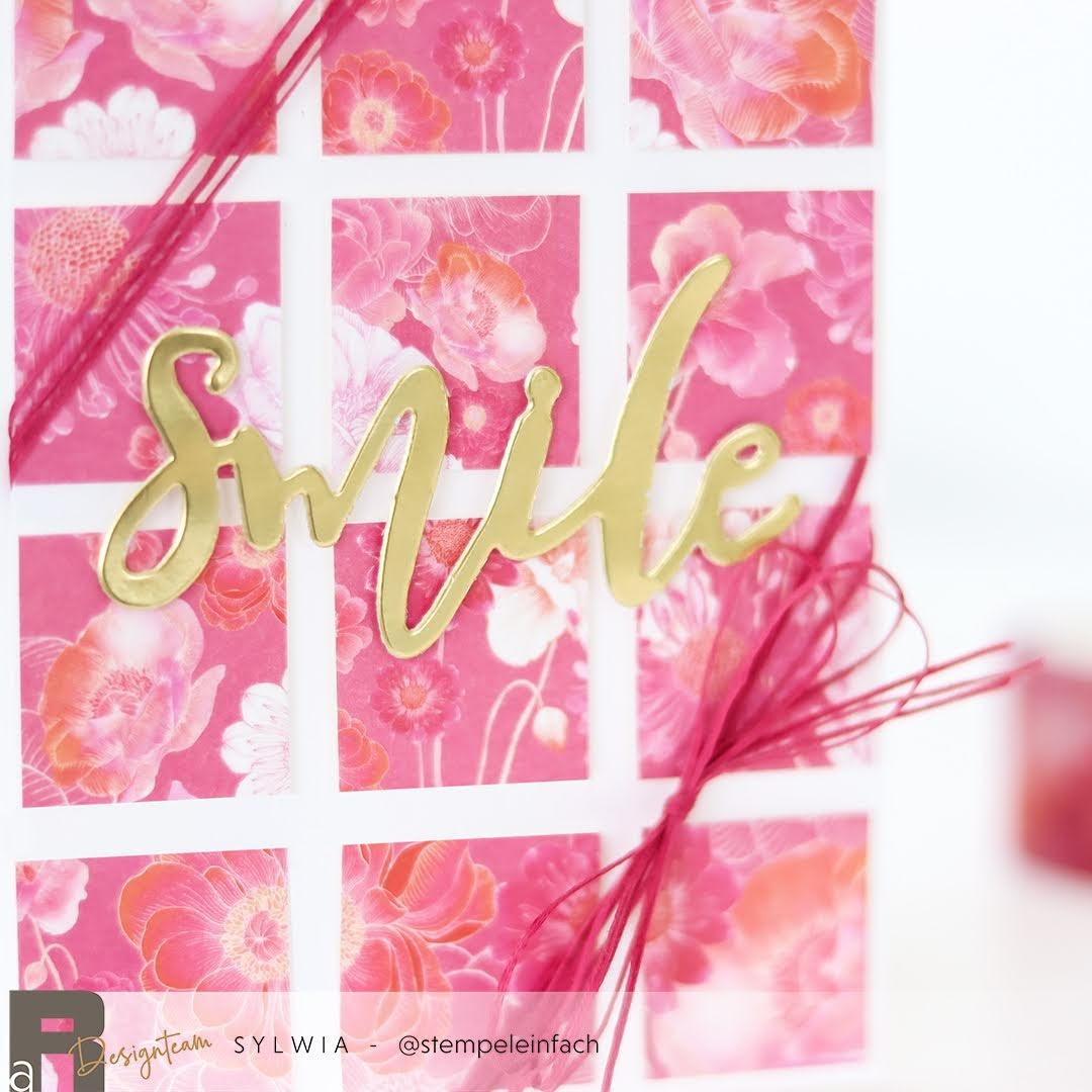 Smile-Karte-Washi Tape