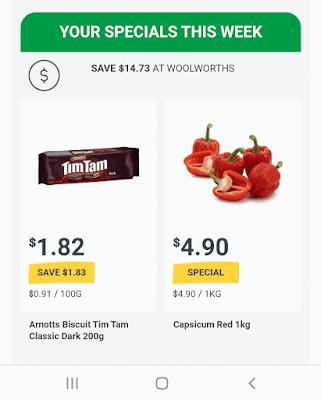 ウールワースでTimTam各種$1.82