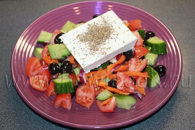 рецепт греческого салата хорьятики с пошаговыми фото