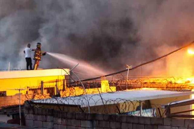 Incendio afecta a empresa de acueducto en la capital dominicana