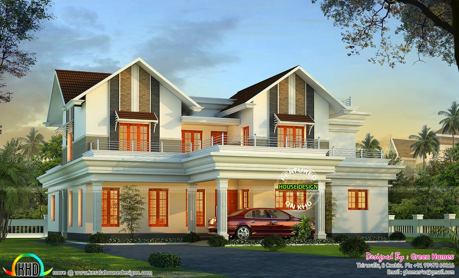 Home dream house kerala home design and floor plans for Dream home kerala