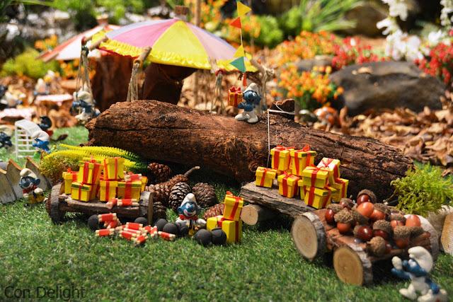 כפר הדרדסים המיניאטורי Miniature smjurfs village