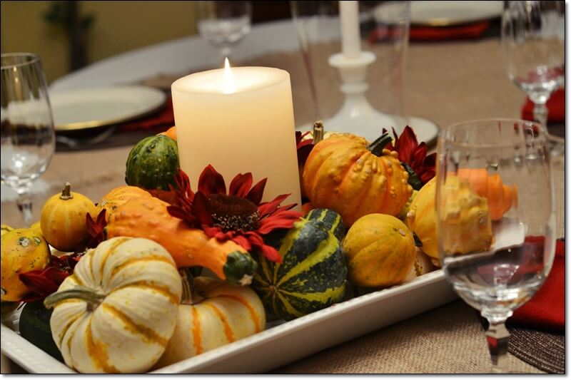 Thanksgiving Table, Decor, Candle,