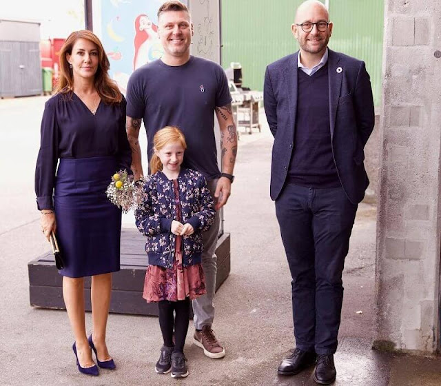 Princess Marie attended the opening of the National Food Waste Day held at Timm Vladimir's Kitchen on Amager of Copenhagen