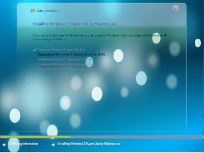 Install Windows 7 Super lite by khatmau_sr