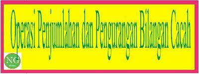 Menentukan Hasil Operasi Penjumlahan dan Pengurangan Bilangan Cacah