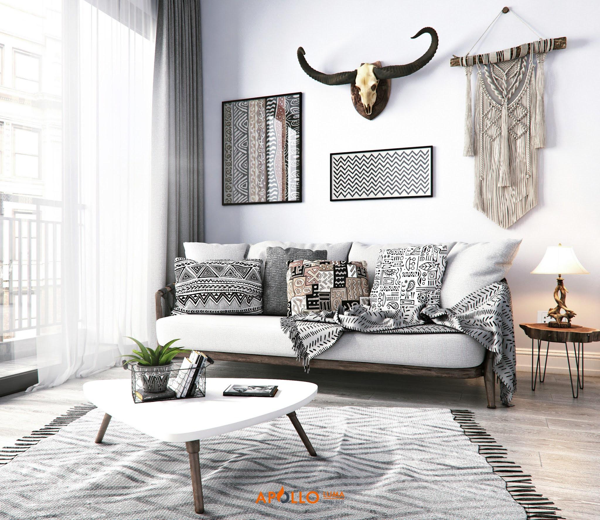 Thiết kế nội thất căn 2 phòng ngủ (78m2) Vinhomes Gardenia