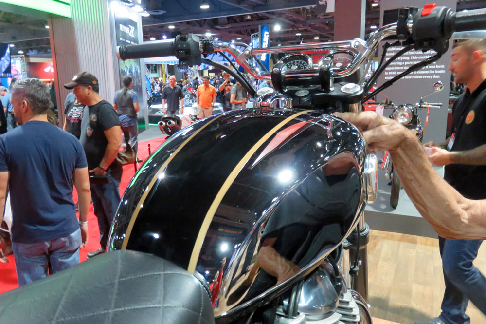 Motorcycle gasoline tank.