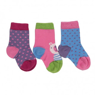 Limited stock hurry! £3.50 Kite Kids Baby-Girls 0-6 Months 3 Pack Socks at 365games