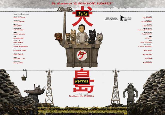 Otra versión del cartel de la película Isla de Perros de Wes Anderson