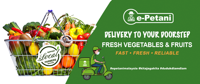 e-Petani Fresh Vegetables & Fruits Delivery, e-petani, vegetables fruits delivery, online vegetables fruits, support local farmers, food