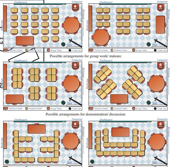 The Real Teachr Classroom Seating Arrangement - classroom seating arrangement templates