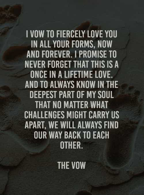 Wedding vows quotes with heartfelt and everlasting love