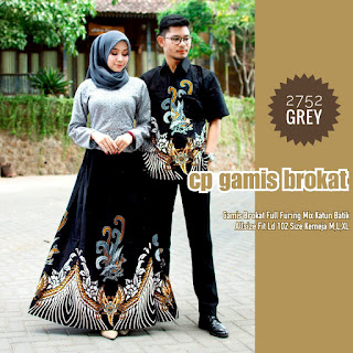 BAJU BATIK COUPLE MODEL GAMIS BROKAT FULL FURING MIX ROK KATUN BATIK TERBARU T2752