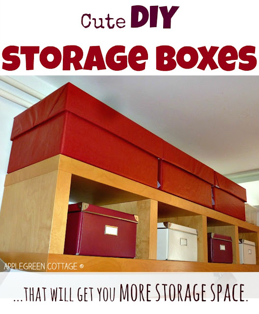 Short of storage space? This might be a perfect solution for you: zero-cost, recycled and tailored-to-measure DIY storage boxes.