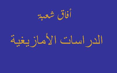 أفاق شعبة الدراسات الأمازيغية