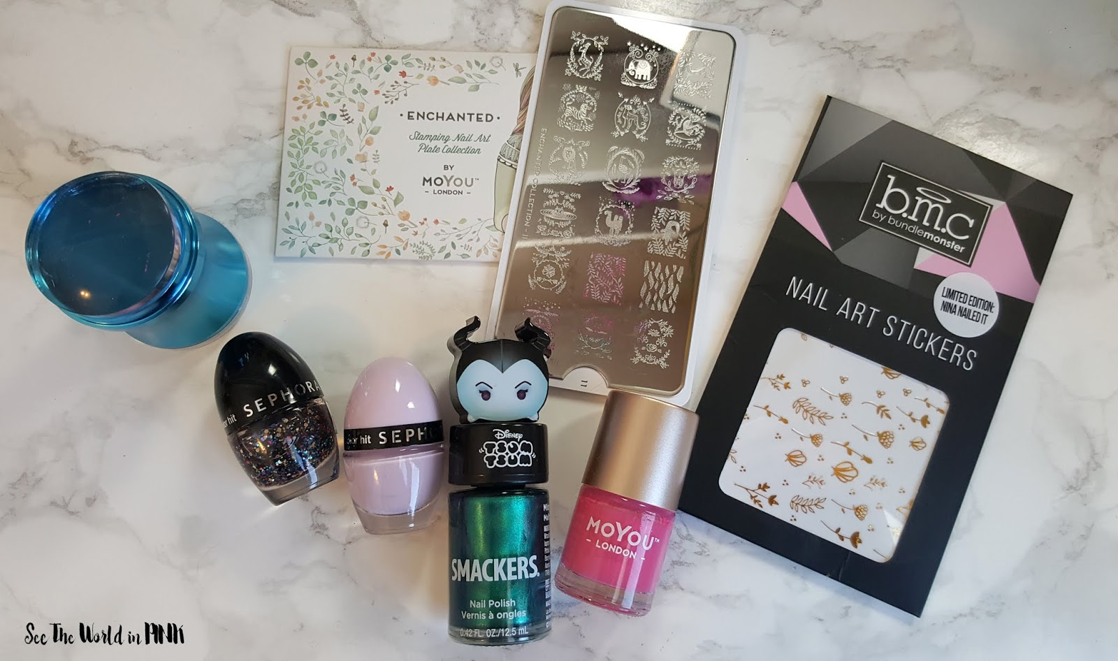 Manicure Monday - New Sephora Collection Color Hit Mini Nail Polishes + Leaves Nail Art