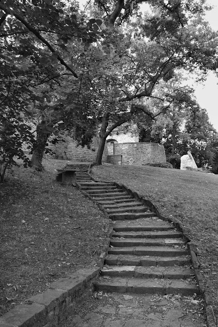 Treppe zur alten Zeitzer Stadtmauer.