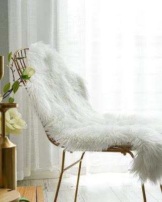 Faux Sheepskin Chair Cover