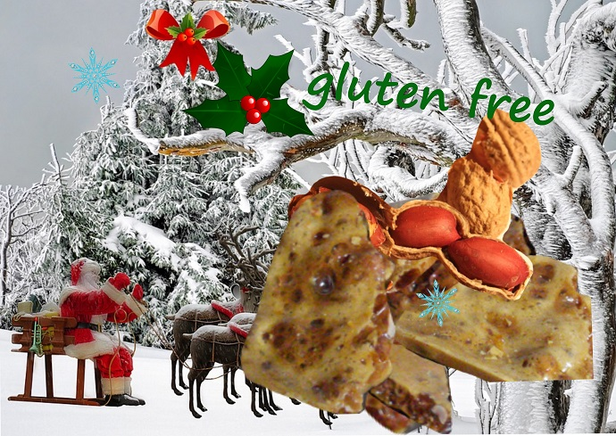 petits fours canadiens aux cacahouètes et sirop d'érable, sans gluten