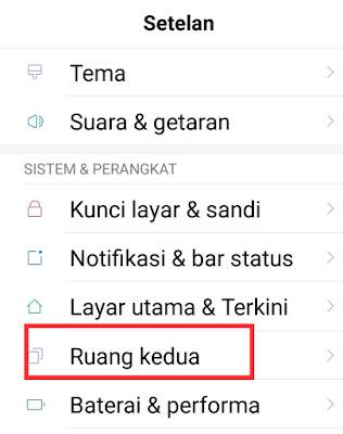 Cara Mengaktifkan (Kembali) Ruang Kedua Handphone Xiaomi
