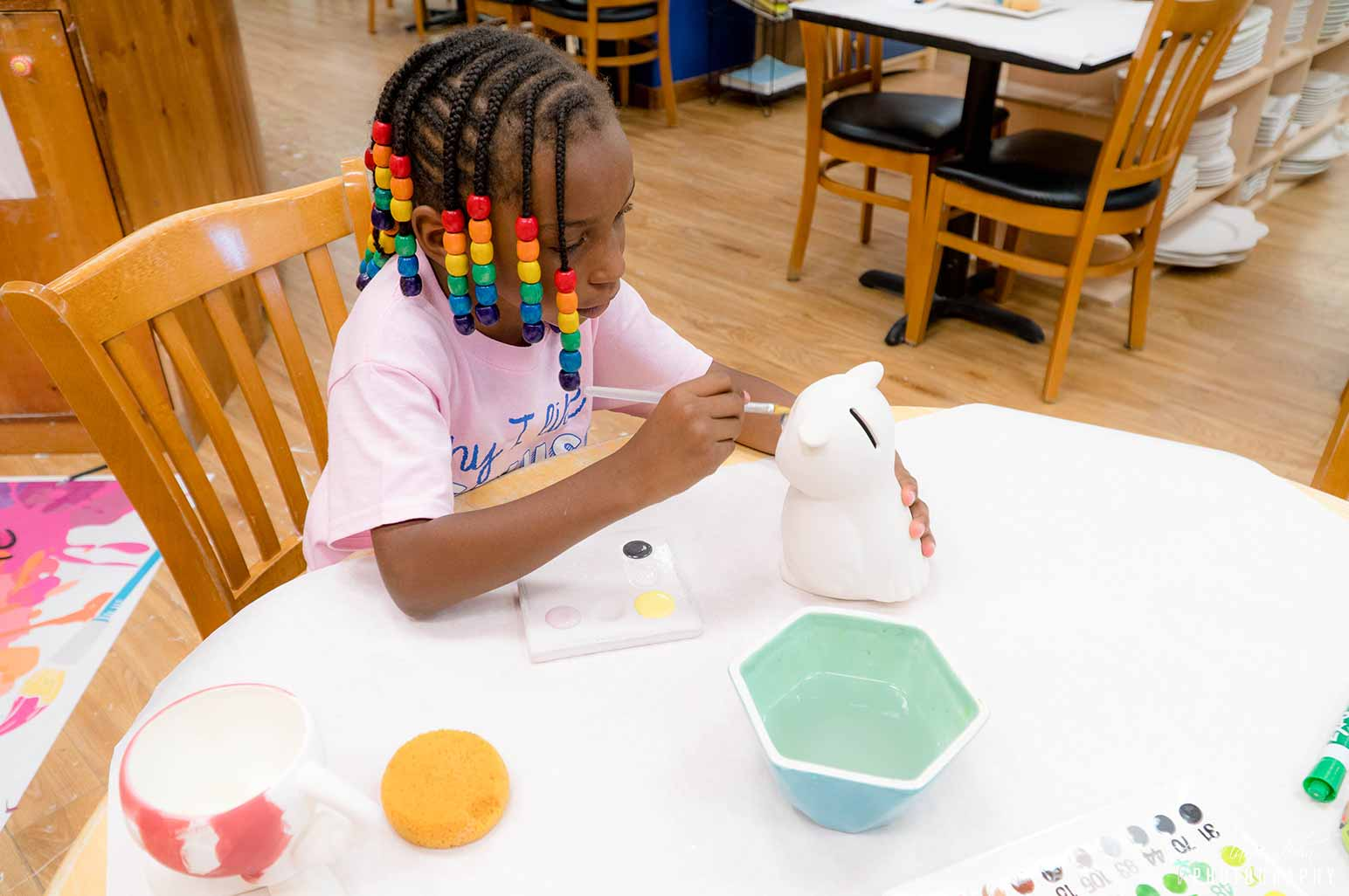 Child at Pottery Class