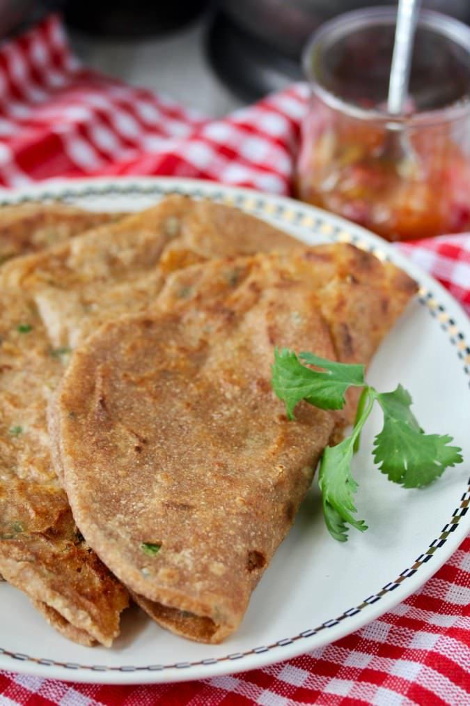 Aloo Paratha on a plate