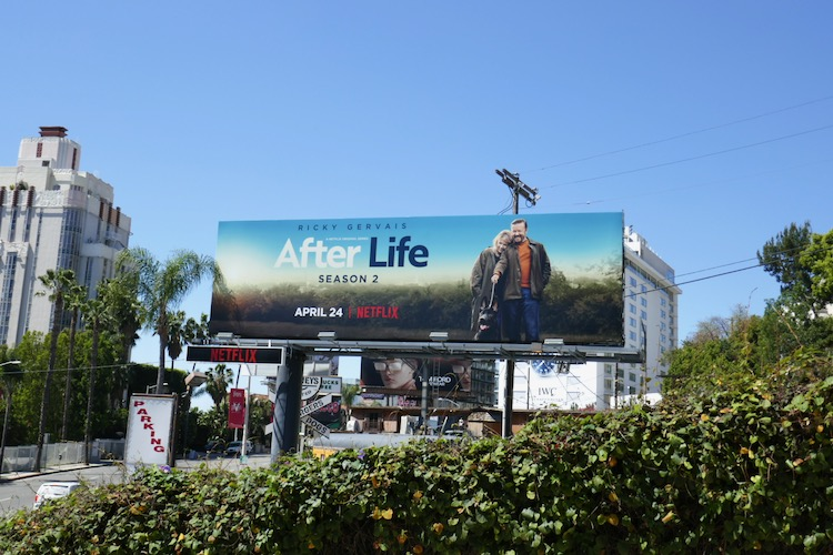 After Life season 2 billboard