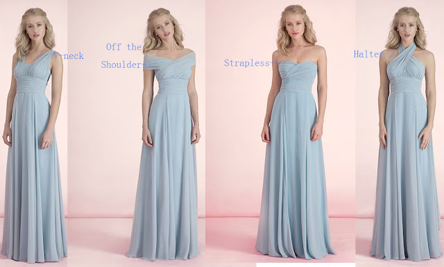 V-Neckline; Off the Shoulder; Strapless and Halter Neckline