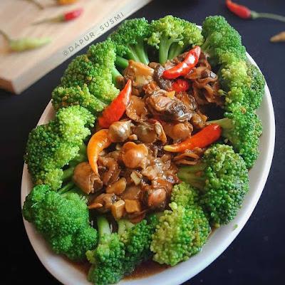 Resep Sayuran - Brokoli Siram Kerang