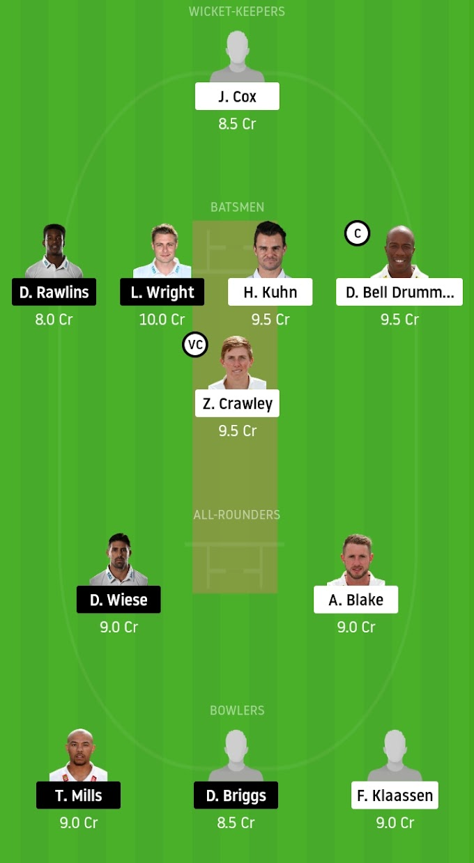 Vitality Blast 2020: Top 2 Sides Against Each Other - Kent vs Sussex Dream11 Prediction